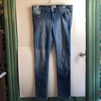 "PAIGE JEANS Skyline Ankle Peg Skinny Studded Stud Spike Cropped Crop Jean 31"" 31"