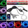 6M/8M RGB LED Car Interior Fiber Optic Neon EL Wire Strip Light Atmosphere  e ∫