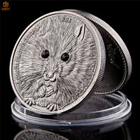 Mongolian Asian Wildlife Phodopus Campbelli Antique Silver Metal Coin Collection