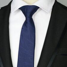 Luxury Navy Blue Striped 6CM Men skinny tie Man Jacquard Wedding Party Silk ties