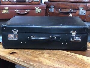 Vintage Leather Look blue black Globetrotter Overnight / weekend travel Suitcase