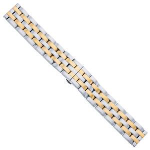 Minott Bracelet Acier Inox Bande Massif Bicolore Adapté À Breitling Montre 29478