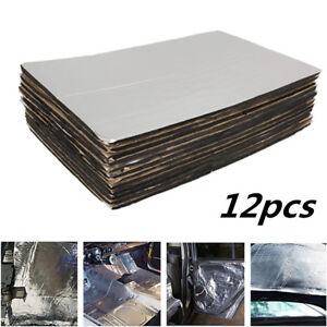 Car Heat Shield Insulation Deadening Firewall Sound Deadener Mat 12pcs 5mm