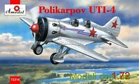 Amodel 72314 - 1/72 Polikarpov UTI-4. Re-release, scale plastic model kit