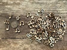 100 piece mix Music Notes wood shapes embellishments crafts scrap booking art