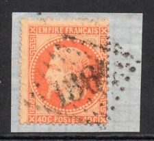 France 40 Cent Stamp c1863-70 Used on Piece (3924)