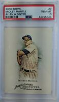 2008 08 Topps Allen & Ginter Mickey Mantle #7, Yankees, Graded PSA 10 Gem Mint