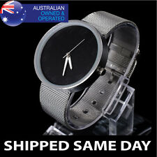 WOMENS BLACK CARBON MESH STRAP FASHION WATCH Ladies Gold Silver Dress Band 14