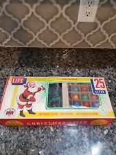 Vintage World Wide Christmas Outdoor Tree Lites Lights 25 Bulb Strand C-9 1/4