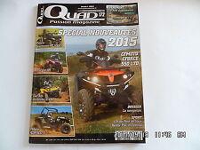 QUAD PASSION MAGAZINE N°172 10/2014 CFMOTO CFORCE 550 LTD ARTIC CAT XR   G50