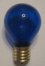 1 Transparent Blue Marquee/Sign/Amusement Park/Party/Patio Light Bulb E17 Base