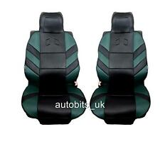 Car Seat Cover Cushion Pair GREEN BLACK