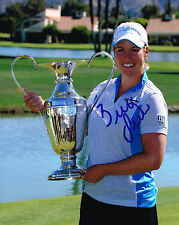 Brittany Lincicome signed Lpga 8x10 Trophy photo with Coa