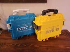 Aqua Blue yellow Watch Hard Case Invicta Limited Edition Three 3 Slot