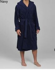 New Alexander Del Rossa Men s NAVY BLUE S M Cotton Terry Hooded Bathrobe  Robe 8f14da282