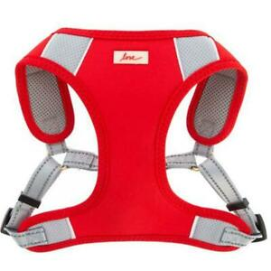 """1 - Ellen Degeneres ED Love Comfort Harness Large Neck 13""""-15"""" Girth 30""""-38"""" Red"""