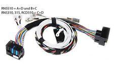 19d3-de VW anschlußkabelsatz media-en MDI VW Bluetooth 5n0035729a unidad de control