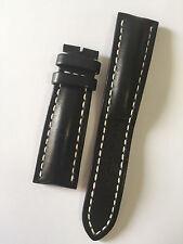 Breitling-Black Calf skinstrap 24-20 Pin Buckle-Model 441x - 100% Original