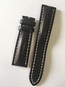 BREITLING - BLACK CALF SKINSTRAP 24-20 PIN BUCKLE - MODEL 441X - 100% ORIGINAL