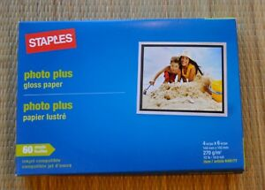 Staples Photo Plus Gloss Paper - Lot of 2 - Total 120 sheets - 4x6