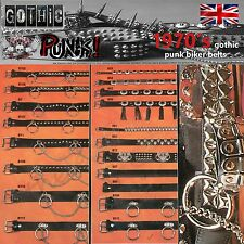 Gothic Punk 1970's Punk Rock Belts Fashion New Leather Handmade Studded Biker