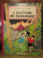 ancienne BD bande dessinees le rayon du mystere l'eruption du karamako hergé