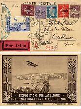 ALGERIE Lettre premier voyage Alger Casablanca