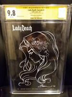 Lady Death (Secrets #1) Mcteigue Necro Sketch Edition C  Artist Proof  CGC 9.8