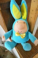 """Vtg 1988 Ziggy Blue Outfit With Bunny Ears 9"""" Free Shipping"""