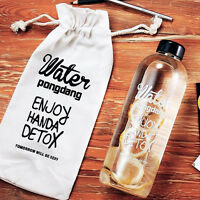 600ML/1L Travel Portable Fashion Clear Sports Fruit Juice Water Bottle Cup / Bag