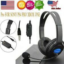 Wired Stereo Bass Surround Gaming Headset for PS4 New Xbox One PC w/ microphone