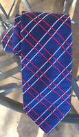 Vintage Red White Blue Striped Patriotic Americana Silk Neck Tie Italy