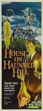 HOUSE ON HAUNTED HILL Movie POSTER 14x36 Insert Vincent Price Carol Ohmart