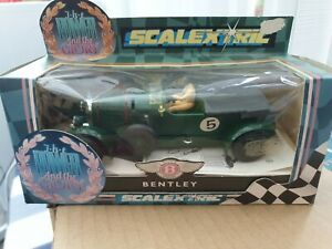 SCALEXTRIC BENTLEY #5 THE POWER AND GLORY RANGE IN ORIGINAL BOX VGC