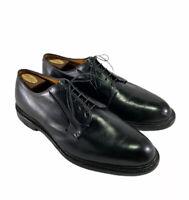 Allen Edmonds Leeds Black Plain Toe Blucher Dress Shoes Men's Size Is 12 3E