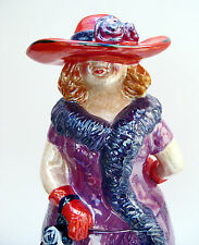 Red Hat High Society *** Lady Ceramic Cookie Jar -  2004 New in Box . . . RARE!