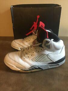 Air Jordan 5 Retro 'White Cement Men's SIZE 9.5