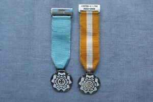 Catenian Association -- Two Silver Miniature Medals -- Religious / Catholic Int