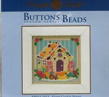 Sugar Cookie House & Bunnies Mill Hill Cross Stitch Kit with Beads & Button