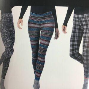 Cuddl Duds Women's 2-Pc. Super-Soft Printed Legging & Sock Set, purple geo, XL