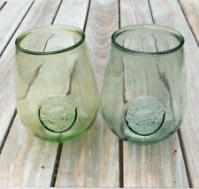 New Listing2 Authentic 100% Recycled Glass Tumblers Wine Gobblets