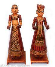 Beautiful Rare Indian Man & Woman Holy Gangaur Couple Statue decorative. G62-143