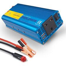 800w 2000w pure sine wave power inverter caravan van converter DC 12v to AC 230v