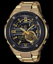 GST-210GD-1A Gold Black Men's G-shock Watches Stainless Steel Band New