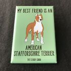 American Staffordshire Terrier Dog Magnet Amstaff Cartoon Art Gifts and Decor