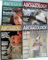 Lot of 4 Archaeology Magazines 2006 2013 2014 2013