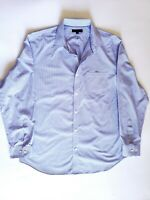 Banana Republic Non-Iron Classic Fit Men Striped Blue XL Size Button Down Shirt