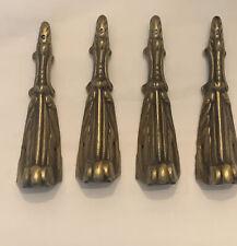 Set of 4 Antique Gilt Brass Corner Furniture Mounts