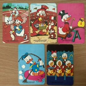 5 Disney Daisy Grandma Donald Duck Vintage Original SINGLE Blank Back Swap Cards