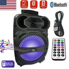 "8"" Party Bluetooth Speaker System Led Portable Stereo Tailgate Loud Rechargeable"